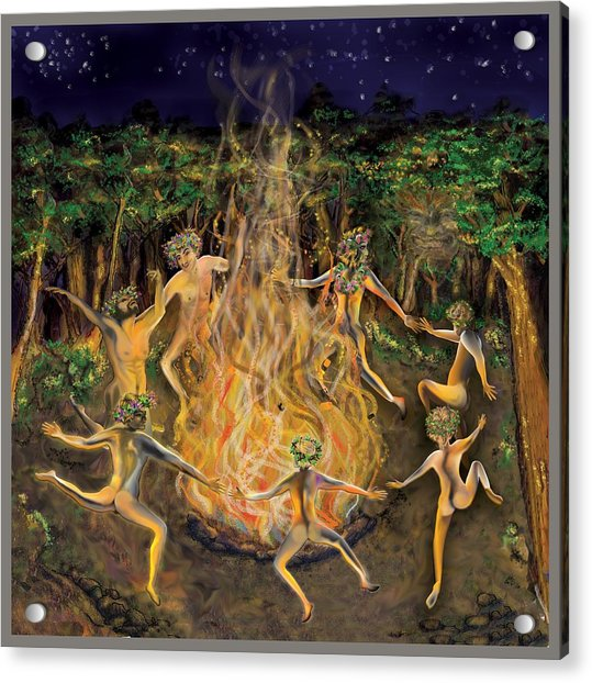 Dancing Naked In The Forest Cd Cover Acrylic Print