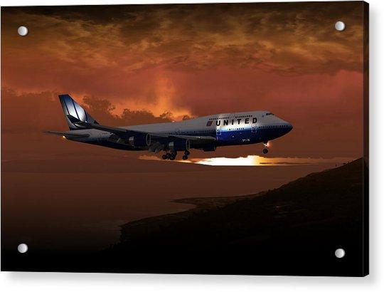747-400 02 Approach Phog Acrylic Print