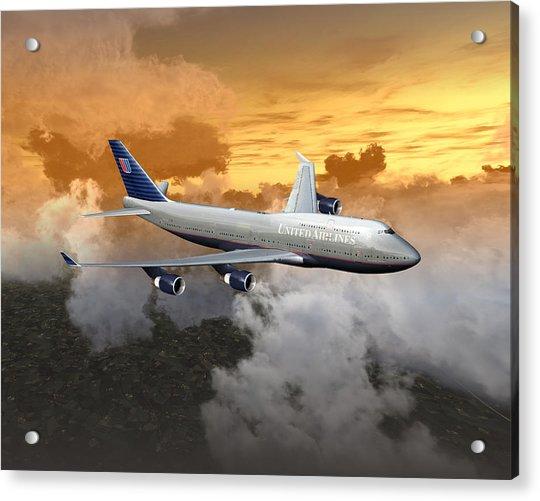 747-400 20x16 04 Acrylic Print