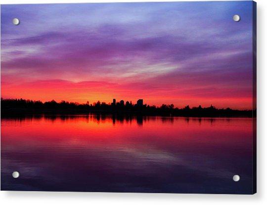 Sunrise At Sloan's Lake Acrylic Print