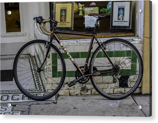 A Bicycle In The French Quarter, New Orleans, Louisiana Acrylic Print