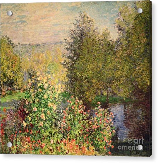 A Corner Of The Garden At Montgeron Acrylic Print