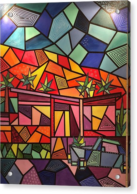 A Desert Home Acrylic Print