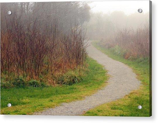 A Foggy Path Acrylic Print
