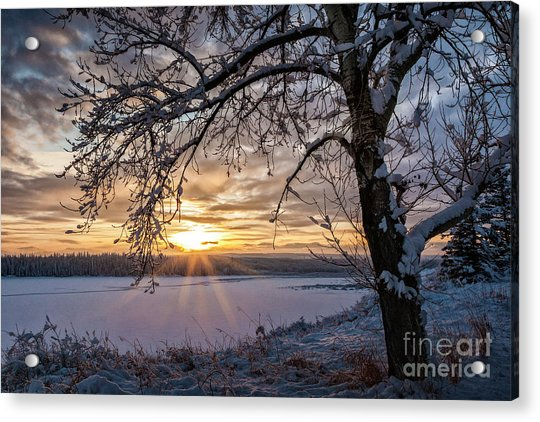 A Glenmore Sunset Acrylic Print