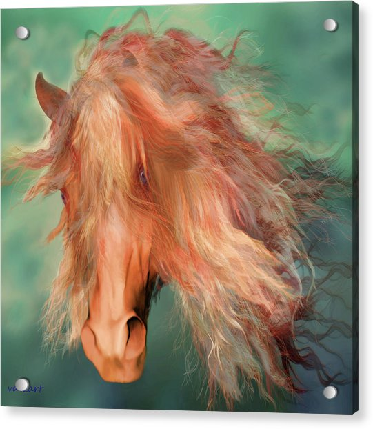 Acrylic Print featuring the painting A Horse Called Copper by Valerie Anne Kelly