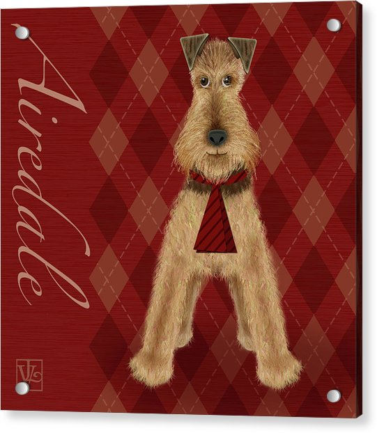 A Is  For Airedale Acrylic Print