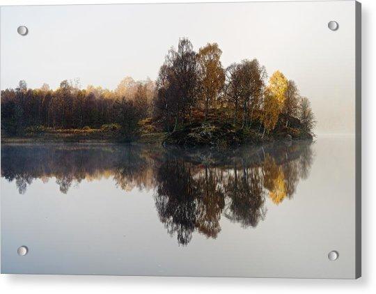 A Misty Autumn Acrylic Print
