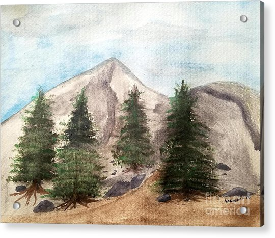 A Mountain Road Acrylic Print