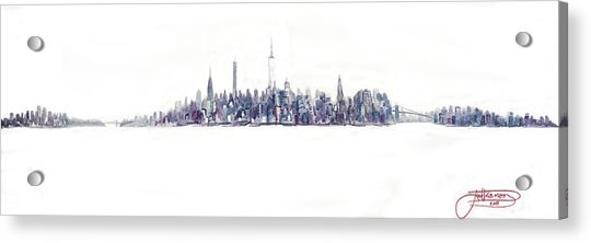 A New Year In Manhattan Acrylic Print