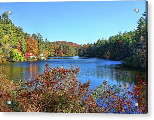 A North Carolina Autumn Acrylic Print