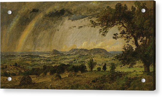 A Passing Shower Over Mts Adam And Eve Acrylic Print