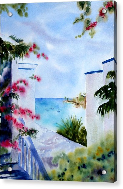 A Peek At Paradise Acrylic Print