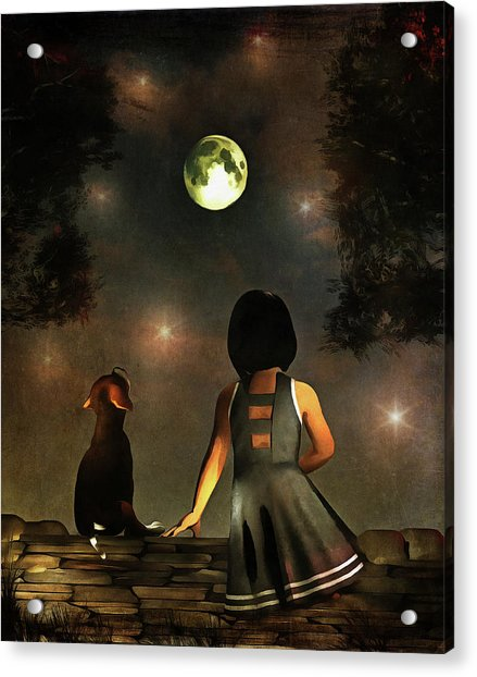 Acrylic Print featuring the painting A Romantic Meeting by Jan Keteleer