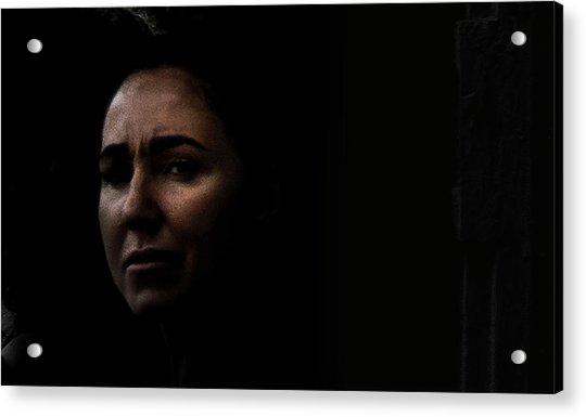 A Tear Fell From Her Eye As She Said Goodbye Acrylic Print