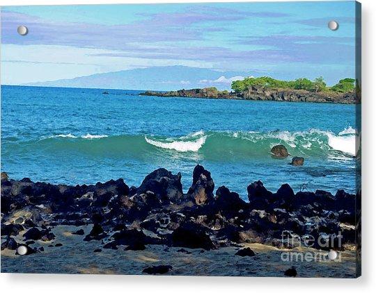 A View Of Maui From Wailea Bay Acrylic Print