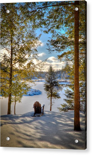 A View Of The Moose Acrylic Print