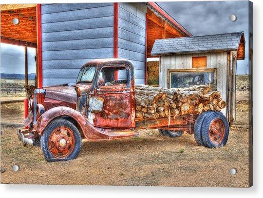 Abandon Truck On Route 66 Acrylic Print