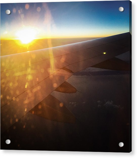Above The Clouds 03 Warm Sunlight Acrylic Print