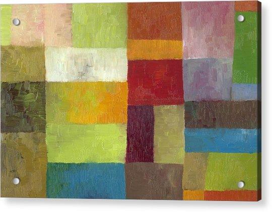 Abstract Color Study Lv Acrylic Print
