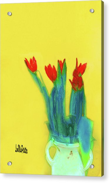 Abstract Floral Art 345 Acrylic Print
