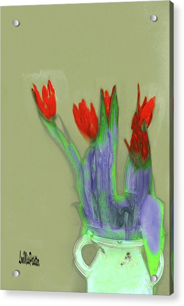 Abstract Floral Art 346 Acrylic Print