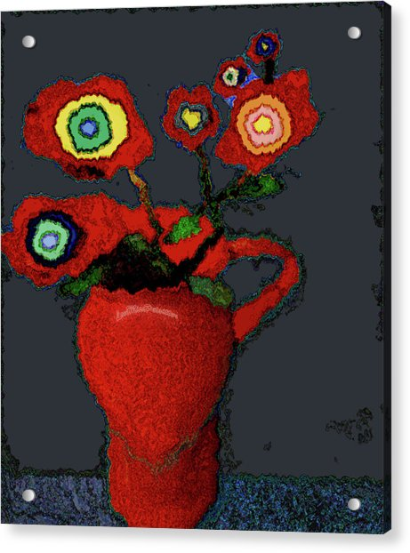 Abstract Floral Art 90 Acrylic Print