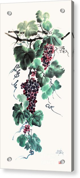 Abundant Grapes Acrylic Print by Nadja Van Ghelue
