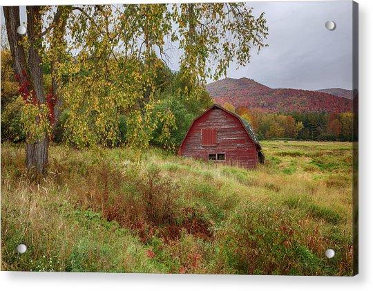 Adirondack Barn In Autumn Acrylic Print