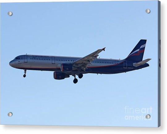 Aeroflot - Russian Airlines Airbus A321-211 - Vq-bhk Acrylic Print