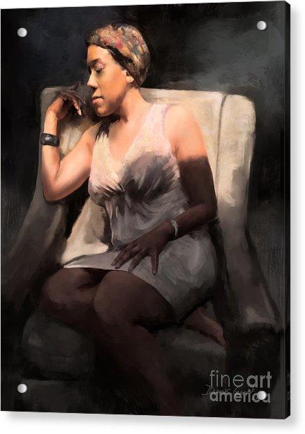 Acrylic Print featuring the digital art Affirmation by Dwayne Glapion