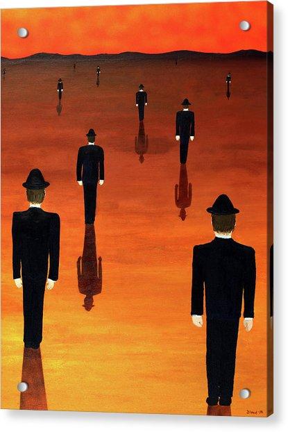 Agents Orange Acrylic Print