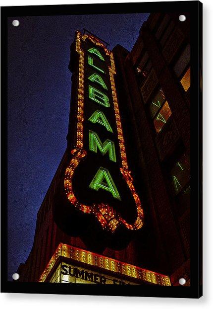 Alabama Lights Poster Acrylic Print