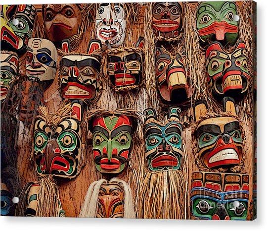 Alaskan Masks Acrylic Print