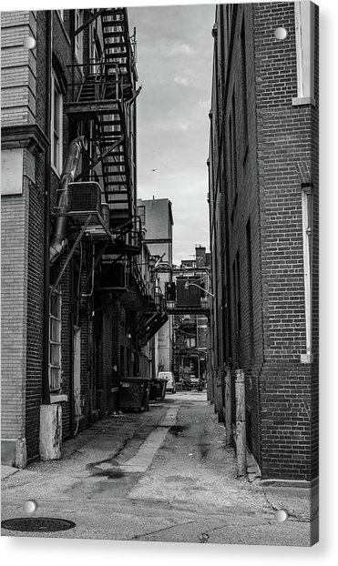 Acrylic Print featuring the photograph Alleyway II by Break The Silhouette