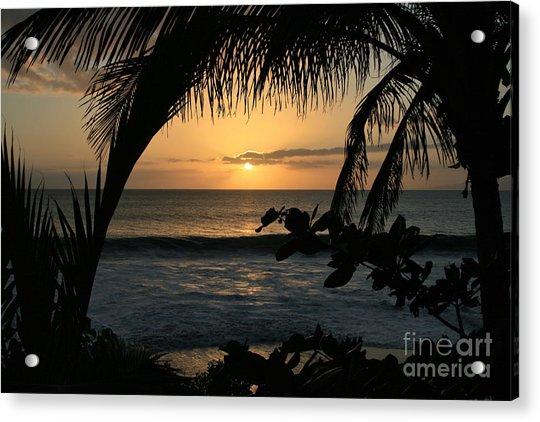 Aloha Aina The Beloved Land - Sunset Kamaole Beach Kihei Maui Hawaii Acrylic Print