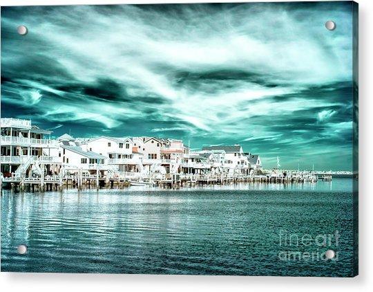 Along The Bay At Long Beach Island Infrared Acrylic Print by John Rizzuto