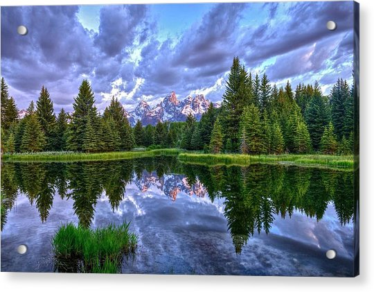 Alpenglow In The Tetons Acrylic Print