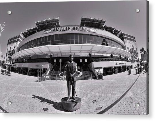 Amalie Arena Black And White Acrylic Print