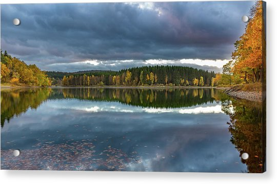 An Autumn Evening At The Lake Acrylic Print