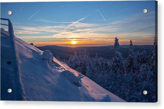 an evening on the Achtermann, Harz Acrylic Print
