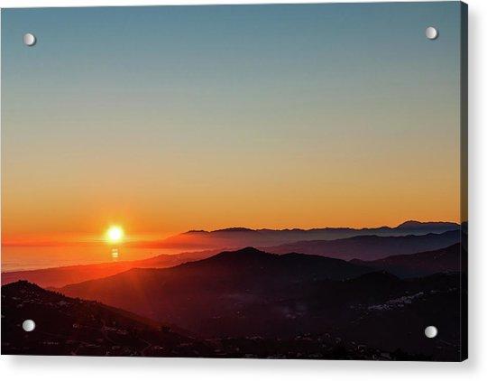 Andalucian Sunset Acrylic Print