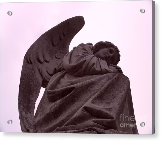 Acrylic Print featuring the photograph Angel In Repose by Cynthia Marcopulos