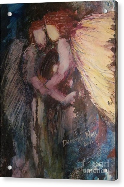 Angels Watching Over Me Acrylic Print