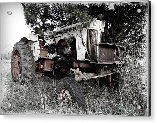 Antique Case Tractor Acrylic Print