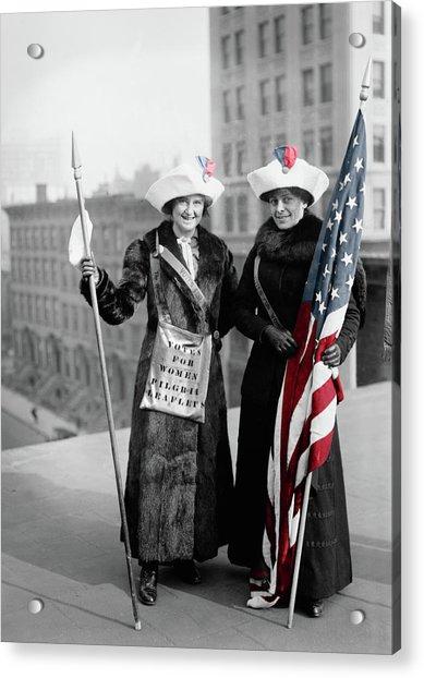 Antique Photo Of Two Women Acrylic Print