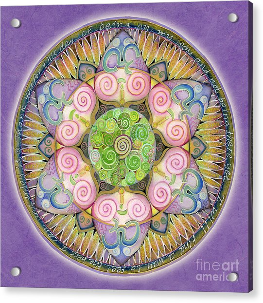 Appreciation Mandala Acrylic Print