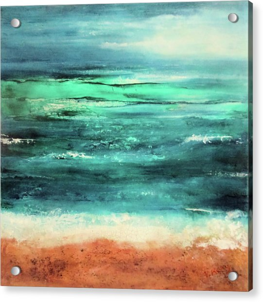 Acrylic Print featuring the painting Aquamarine  by Valerie Anne Kelly