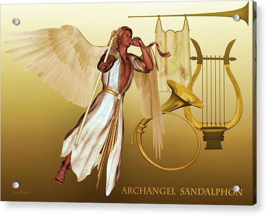 Acrylic Print featuring the digital art Archangel Sandalphon by Valerie Anne Kelly