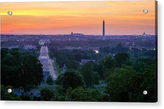 Arlington Sunrise Acrylic Print by Michael Donahue